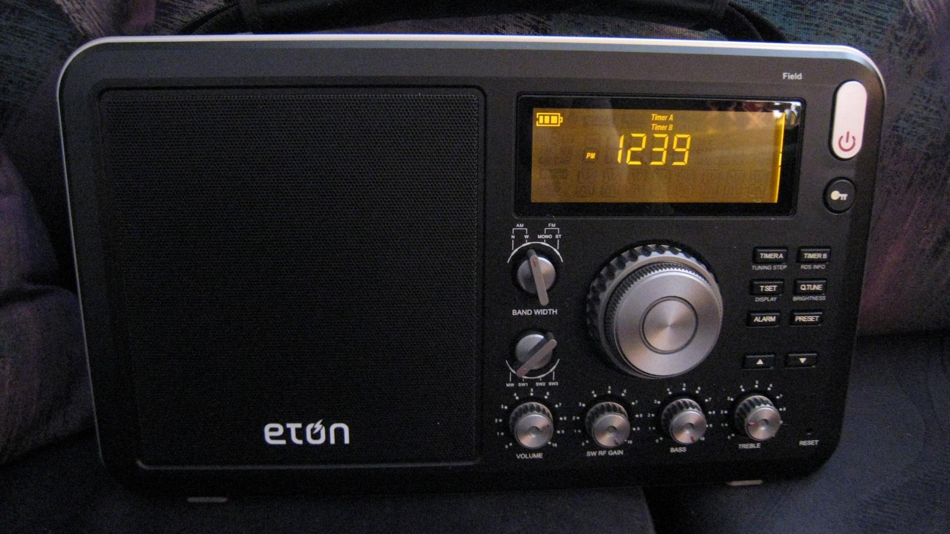 Sleep Timer Eton Grundig AM//FM Shortwave Field RADIO with Alarm Clock RDS
