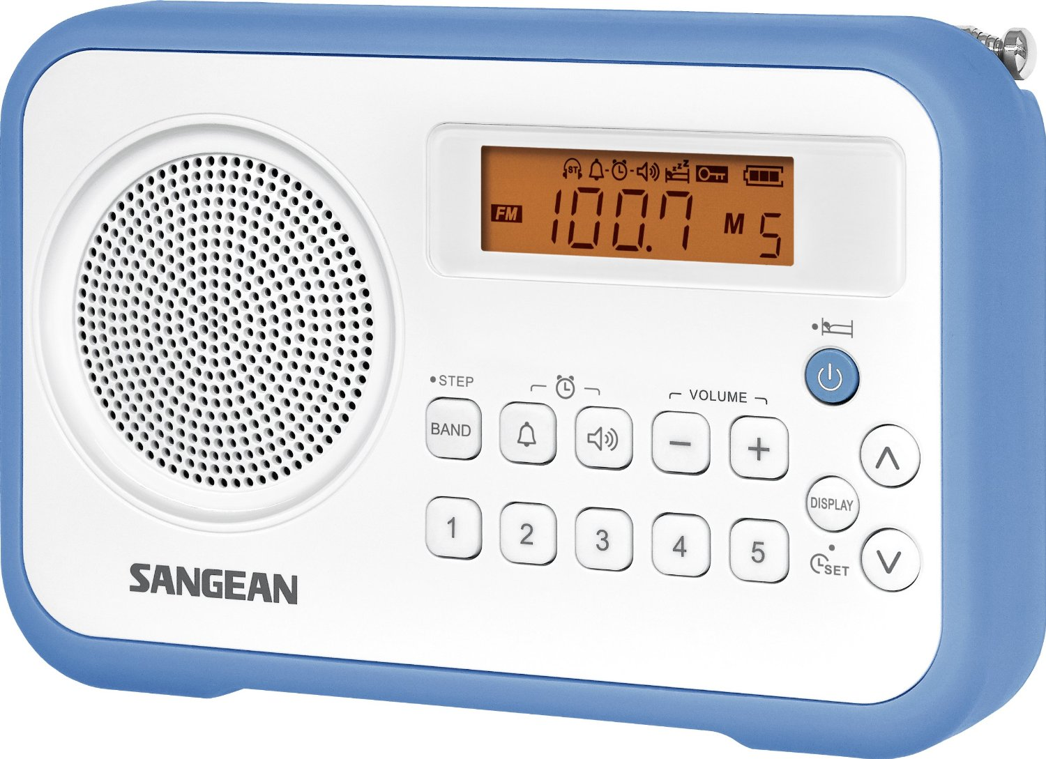 Sangean Pr D18 Dsp Am Fm Digital Portable Radio Radiojayallen Low Cost Bu White Blue