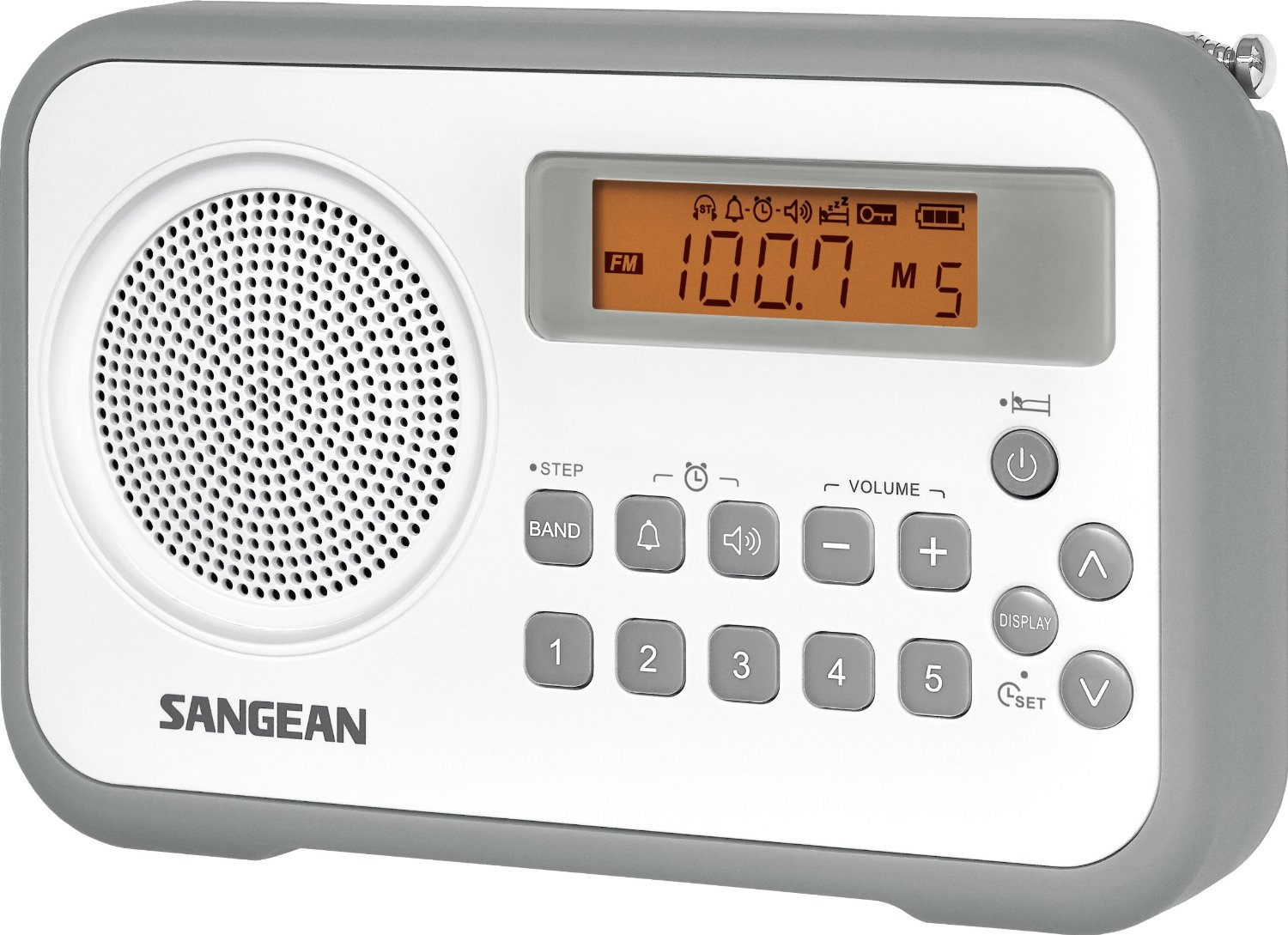 Sangean Pr D18 Dsp Am Fm Digital Portable Radio Radiojayallen Low Cost Gr White Gray