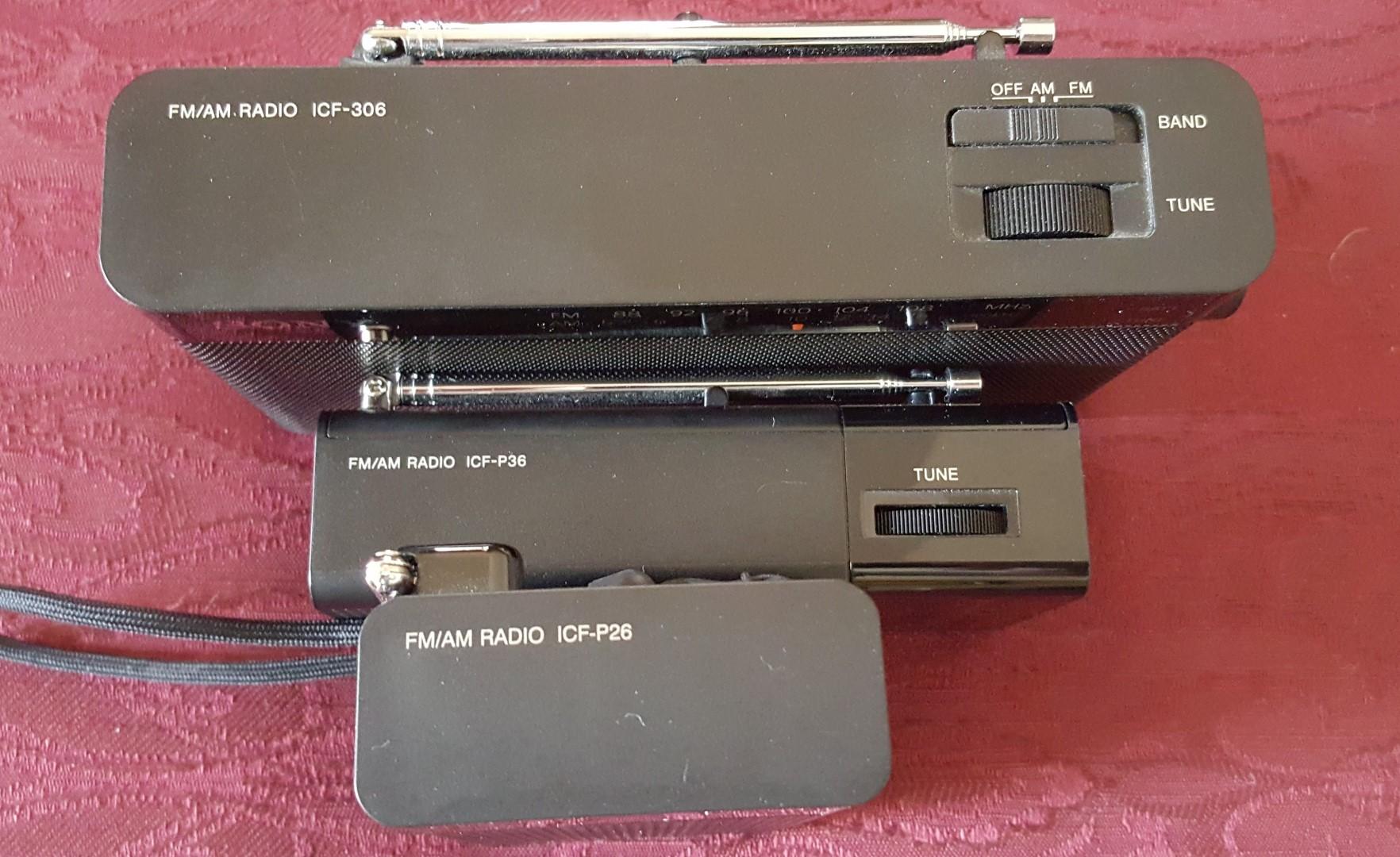 Sony ICF-P26 – ICF-P36 – ICF-306 AM/FM Portables   radiojayallen