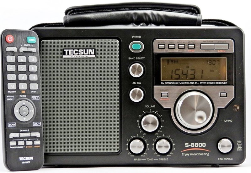 Tecsun S-8800 AM/LW/SW/FM Field Radio With Remote | radiojayallen