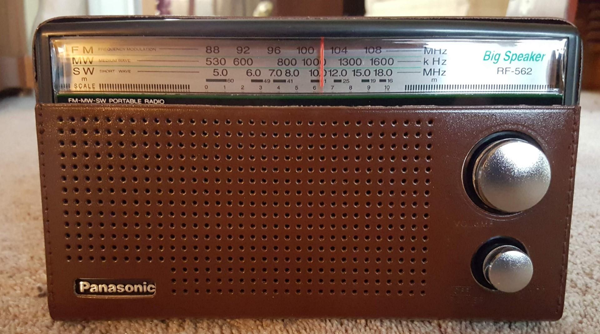 Panasonic RF-562D Retro Design AM-FM-SW Portable Radio | radiojayallen